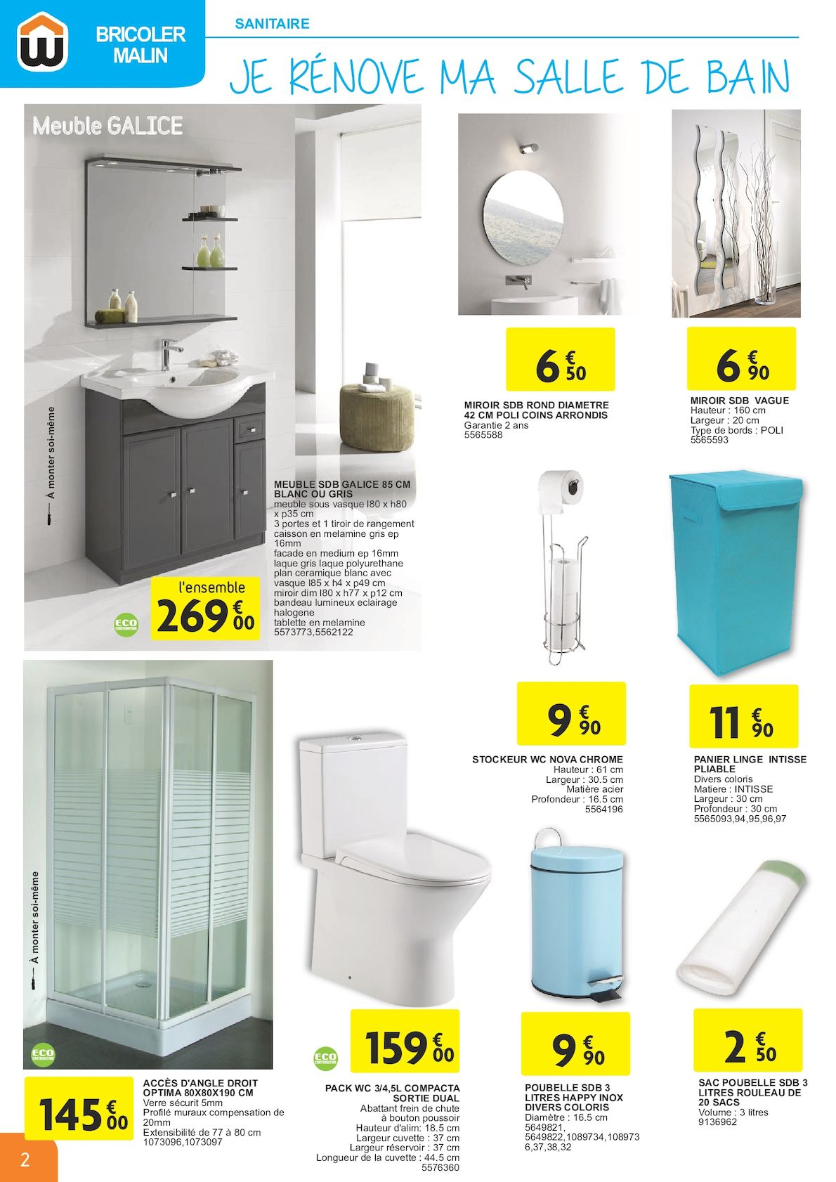 meuble salle de bain 60 cm weldom