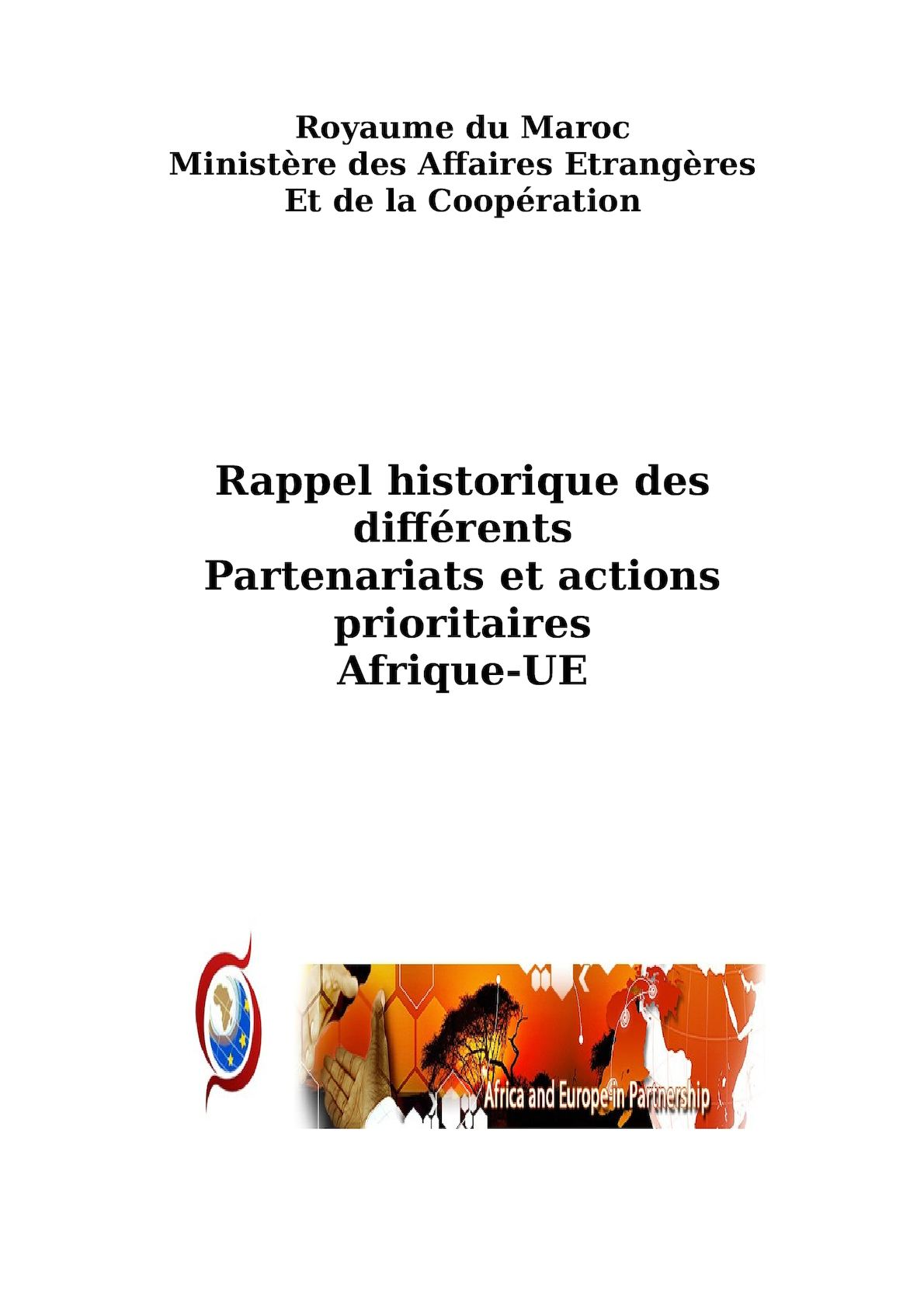 Historique Des Volets De Coopération Afrique Ue