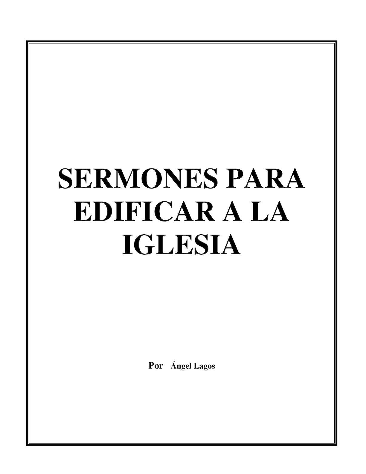 Calaméo - Libro De Sermones Angel Lagos