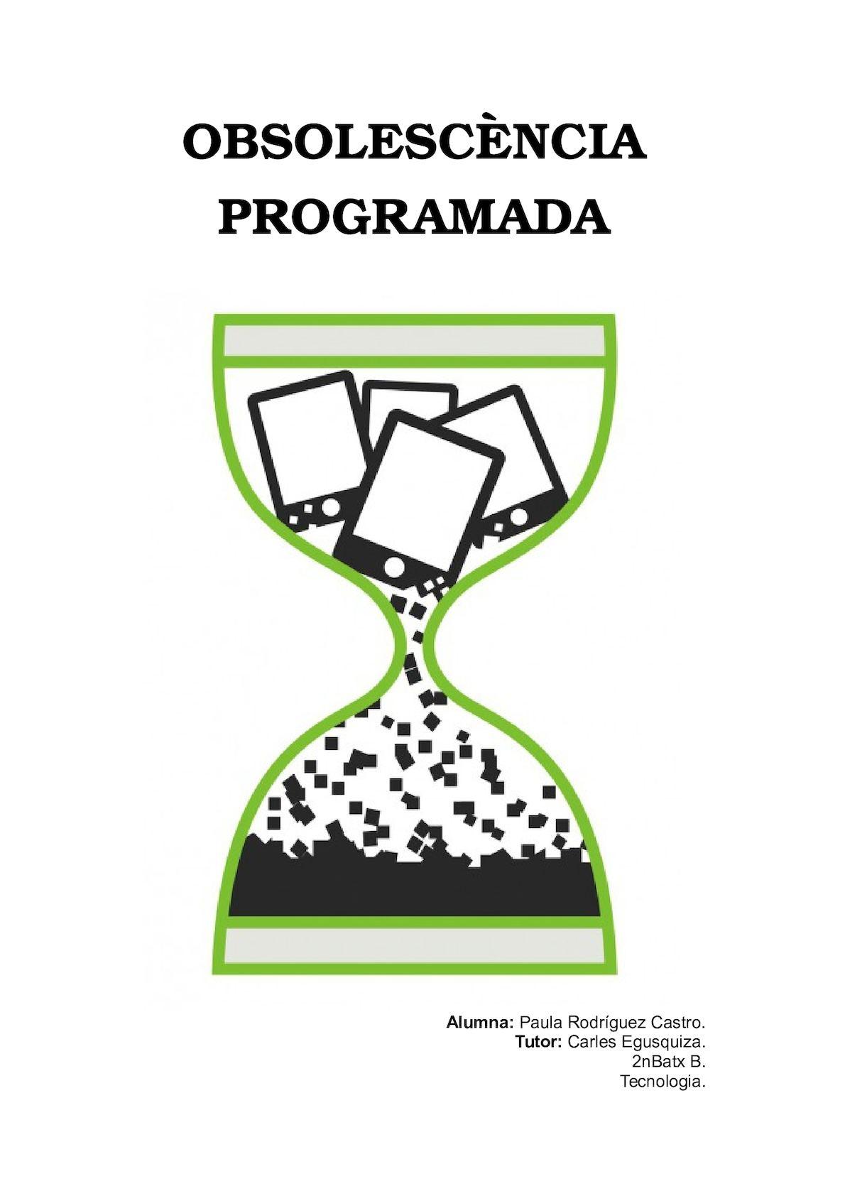 Obsolescència programada