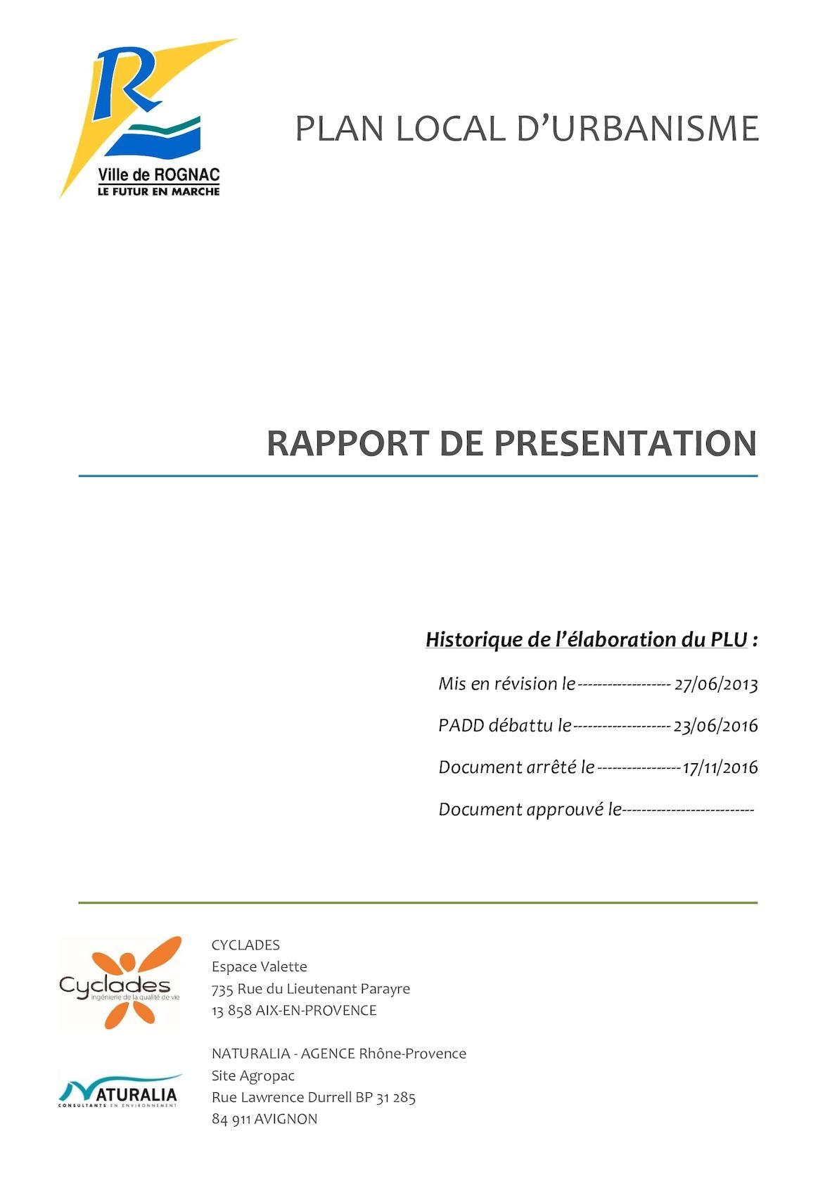 Calaméo - Plan Local d Urbanisme - Tome 1 Rapport de présentation 8039a57778c7