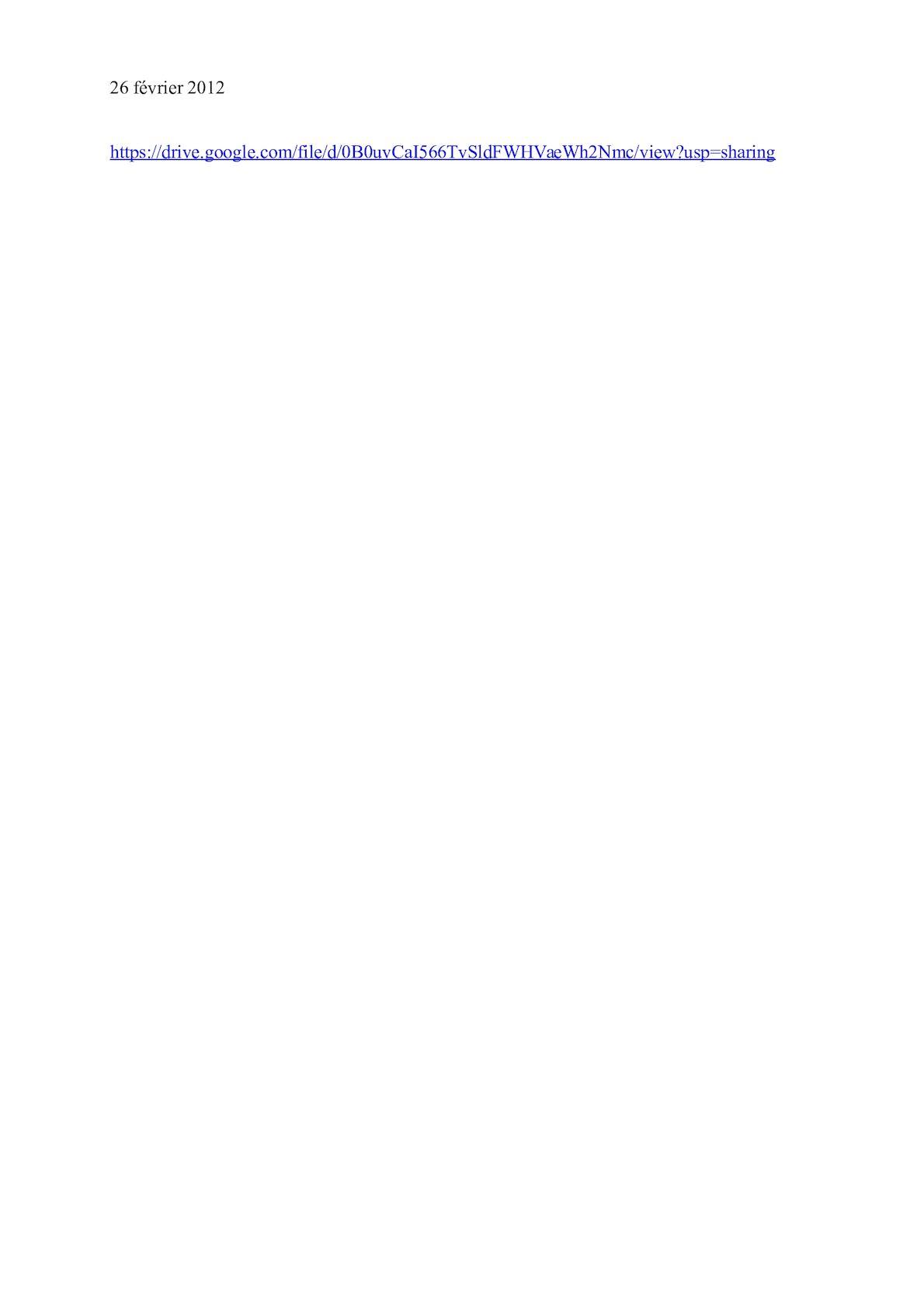 Lien De Téléchargement Google Drive 26 Février 2012