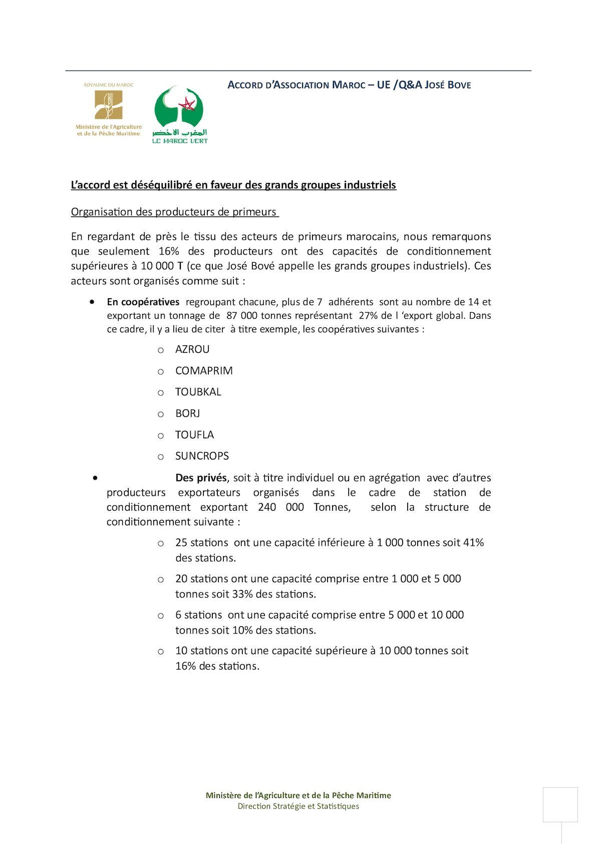 Mapm Argumentaire Accord Agricole Q&a José Bové