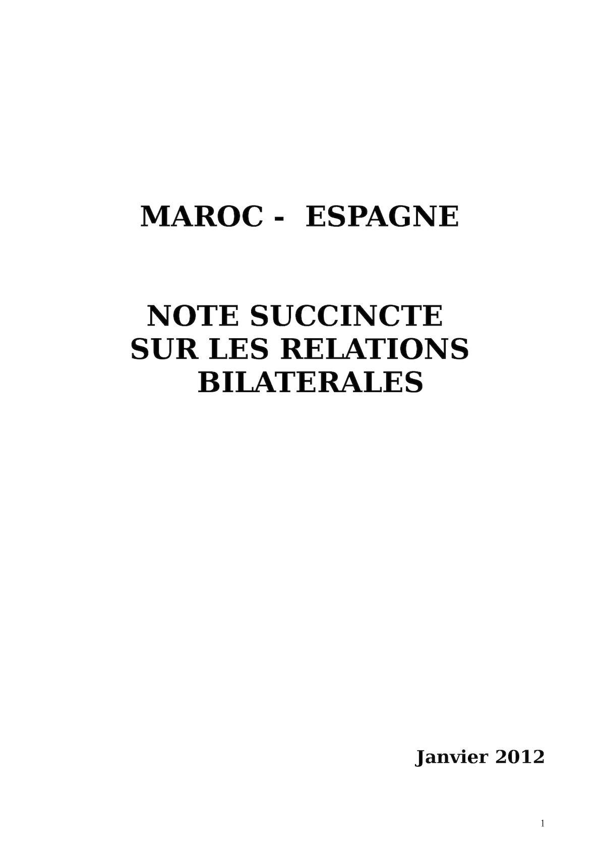 Note Succincte 2011