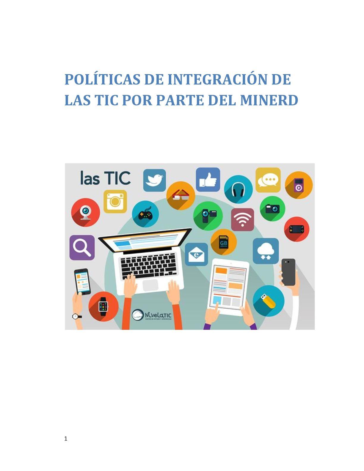 Politas De Integracion De Las Tic Por Parte De Minerd