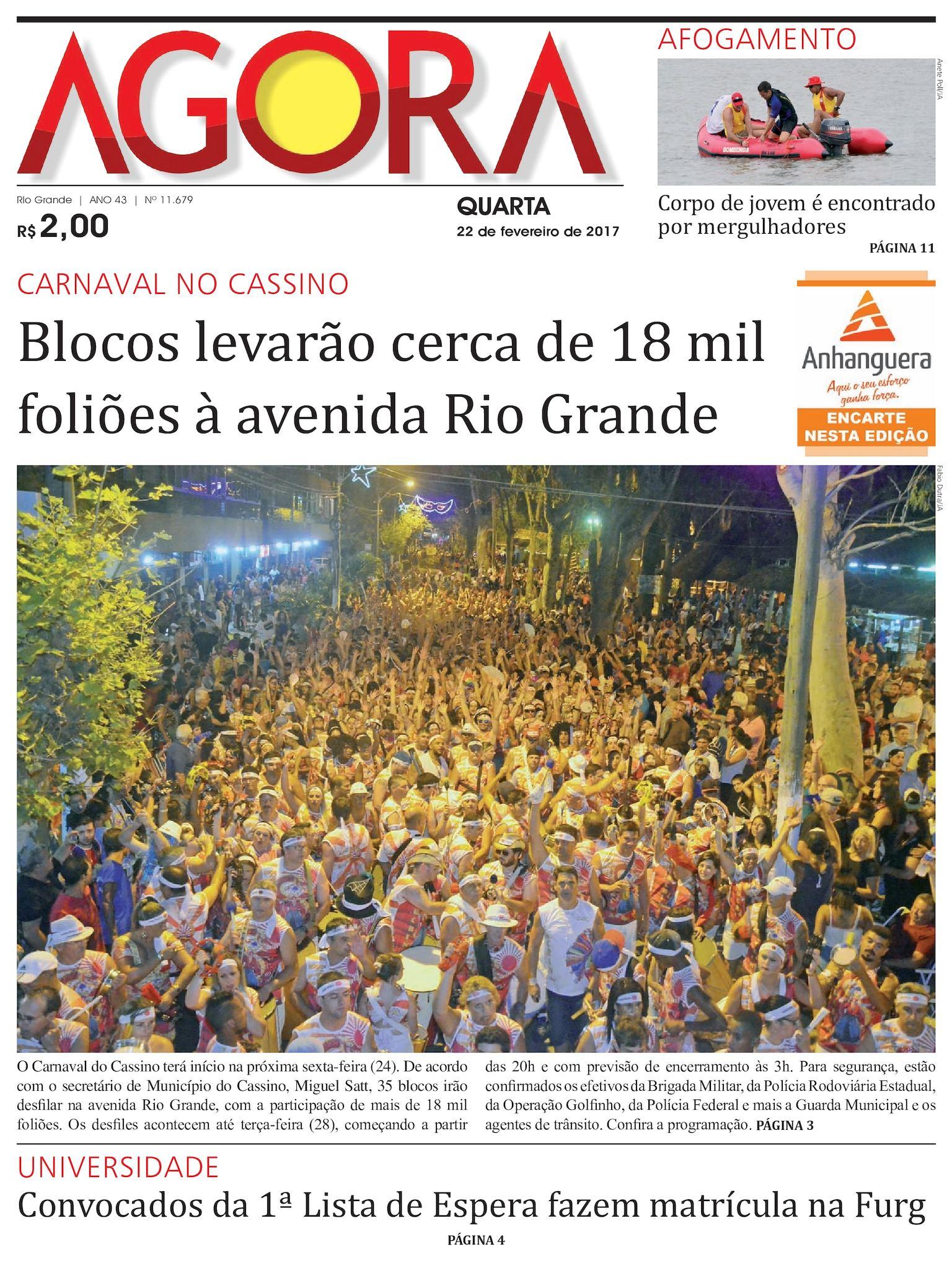 Jornal Agora - Edição 11679  - 22 de Fevereiro de 2017