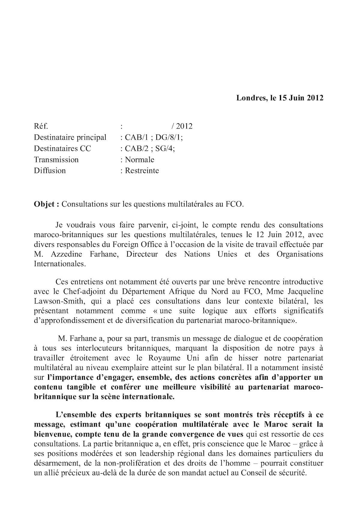 Transmission Consultations Mr Farhane - 12 Juin 2012