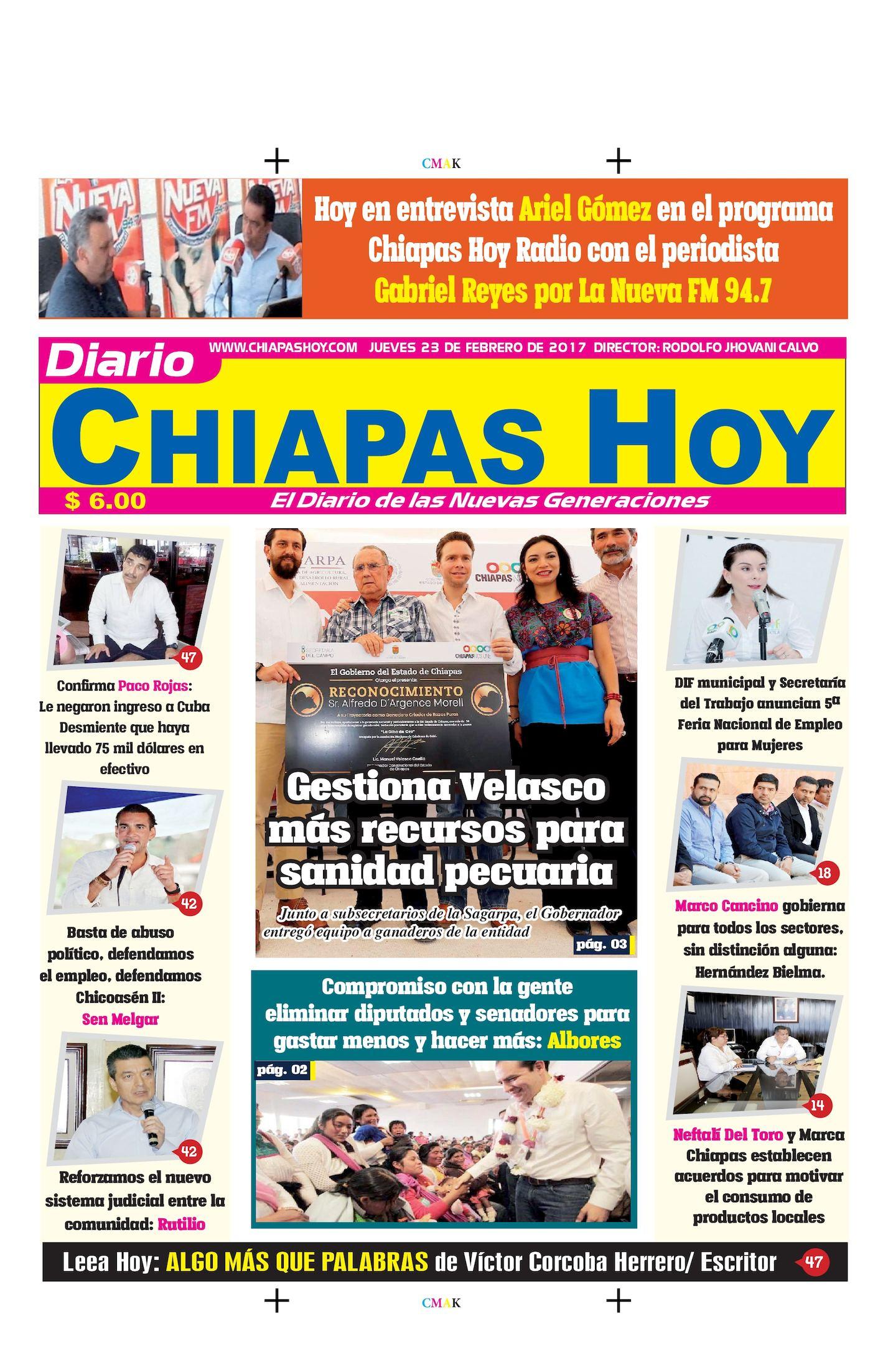 Chiapas Hoy 23 De Febrero