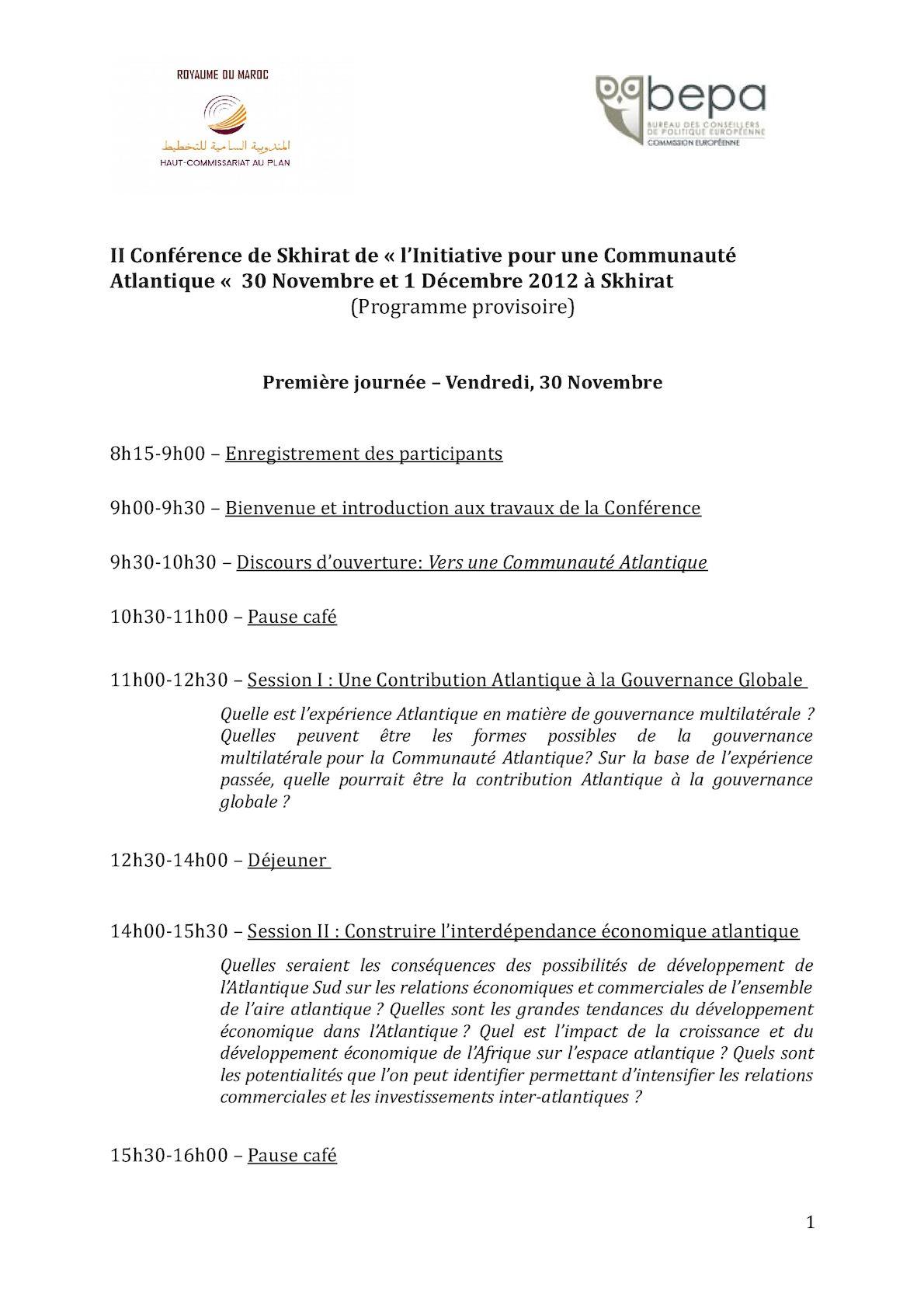 Programme Provisoire Hcp (FR).