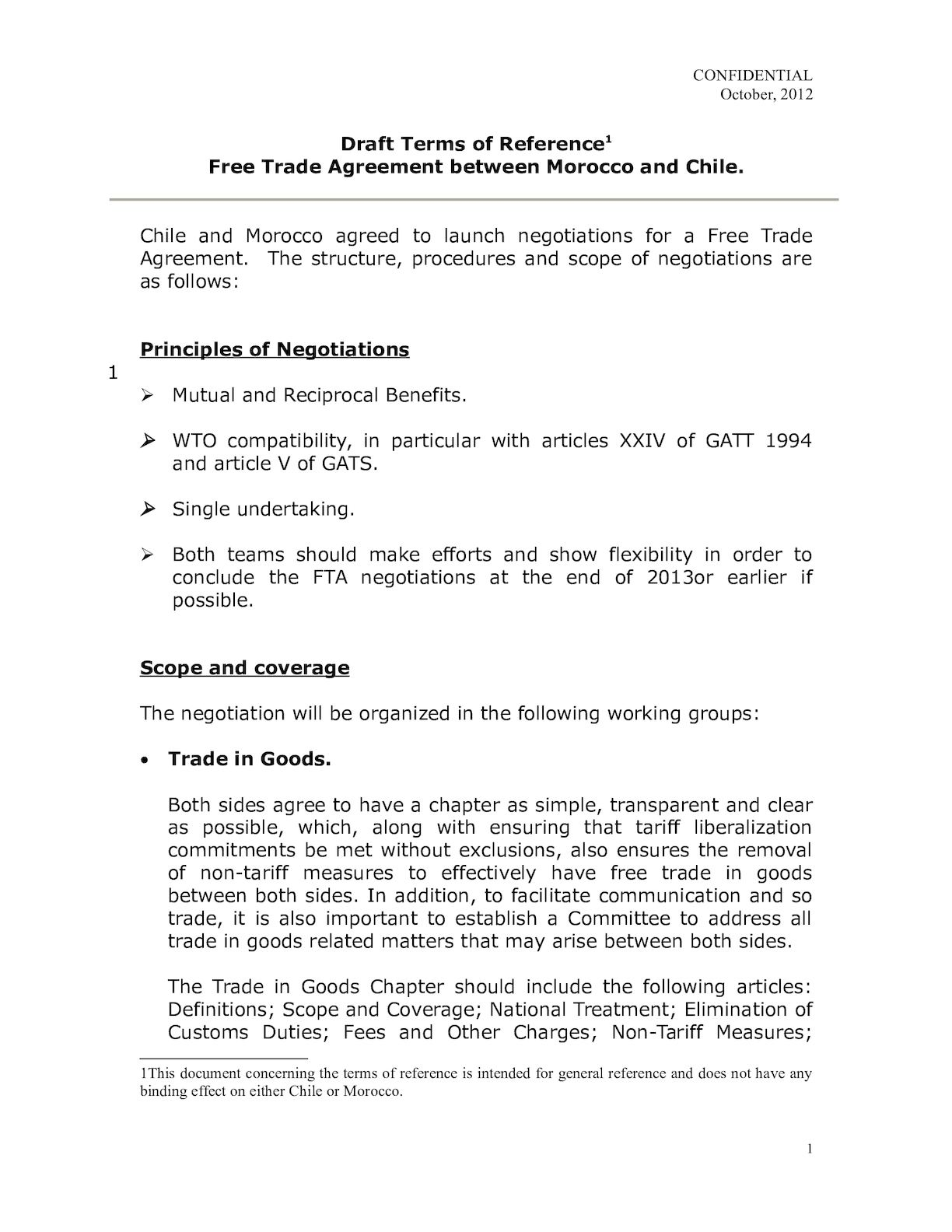 Draft Terms Of Reference Morocco TLC