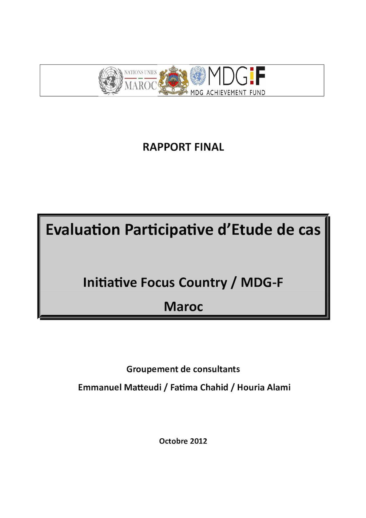 Rapport Pré Final évaluation Participative 1