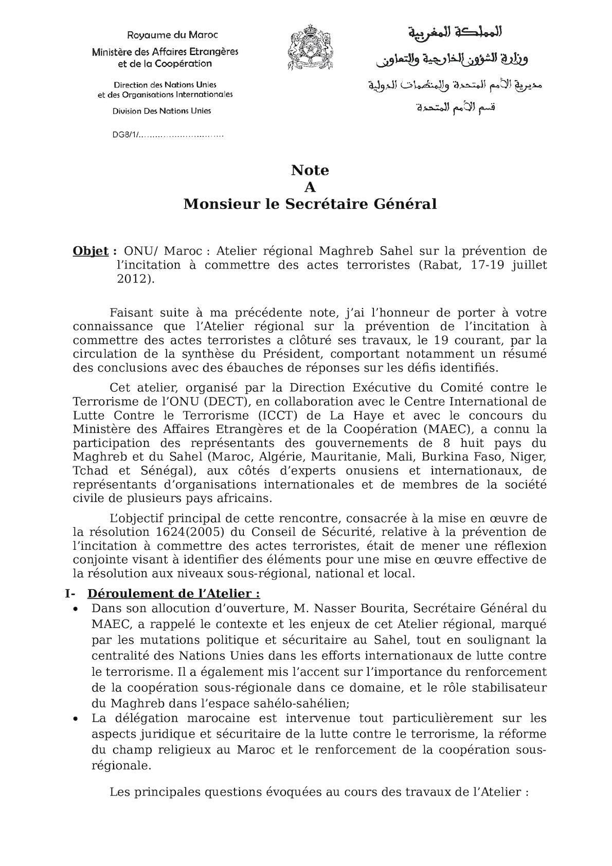 DECT Atelier Rabat- Compte Rendu 1
