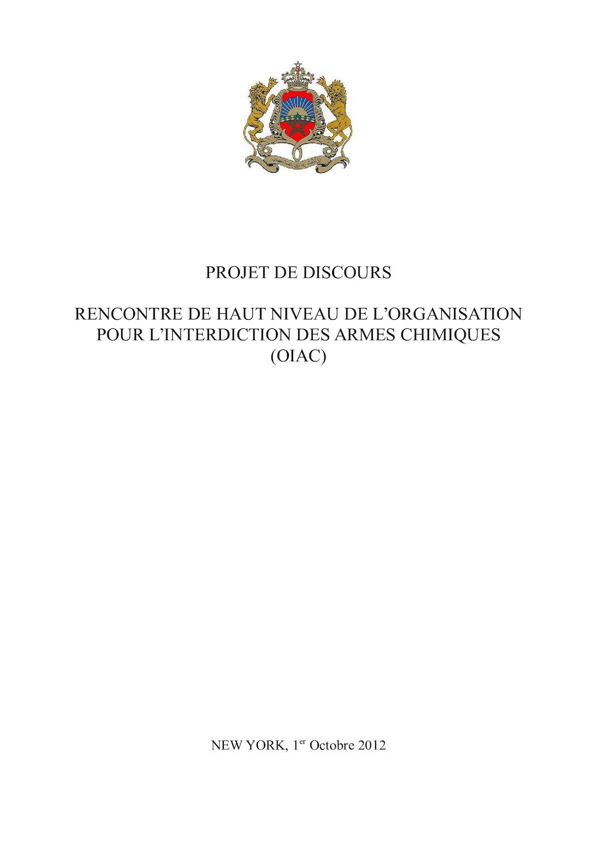 Projet Discours OIAC