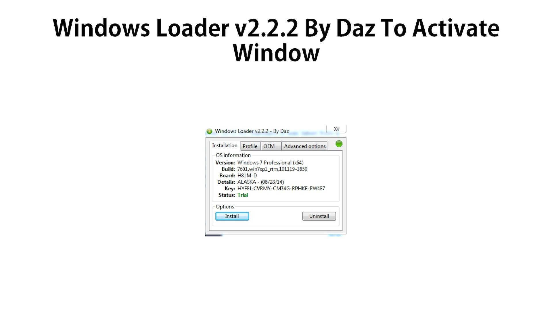free download windows 7 activator loader by daz