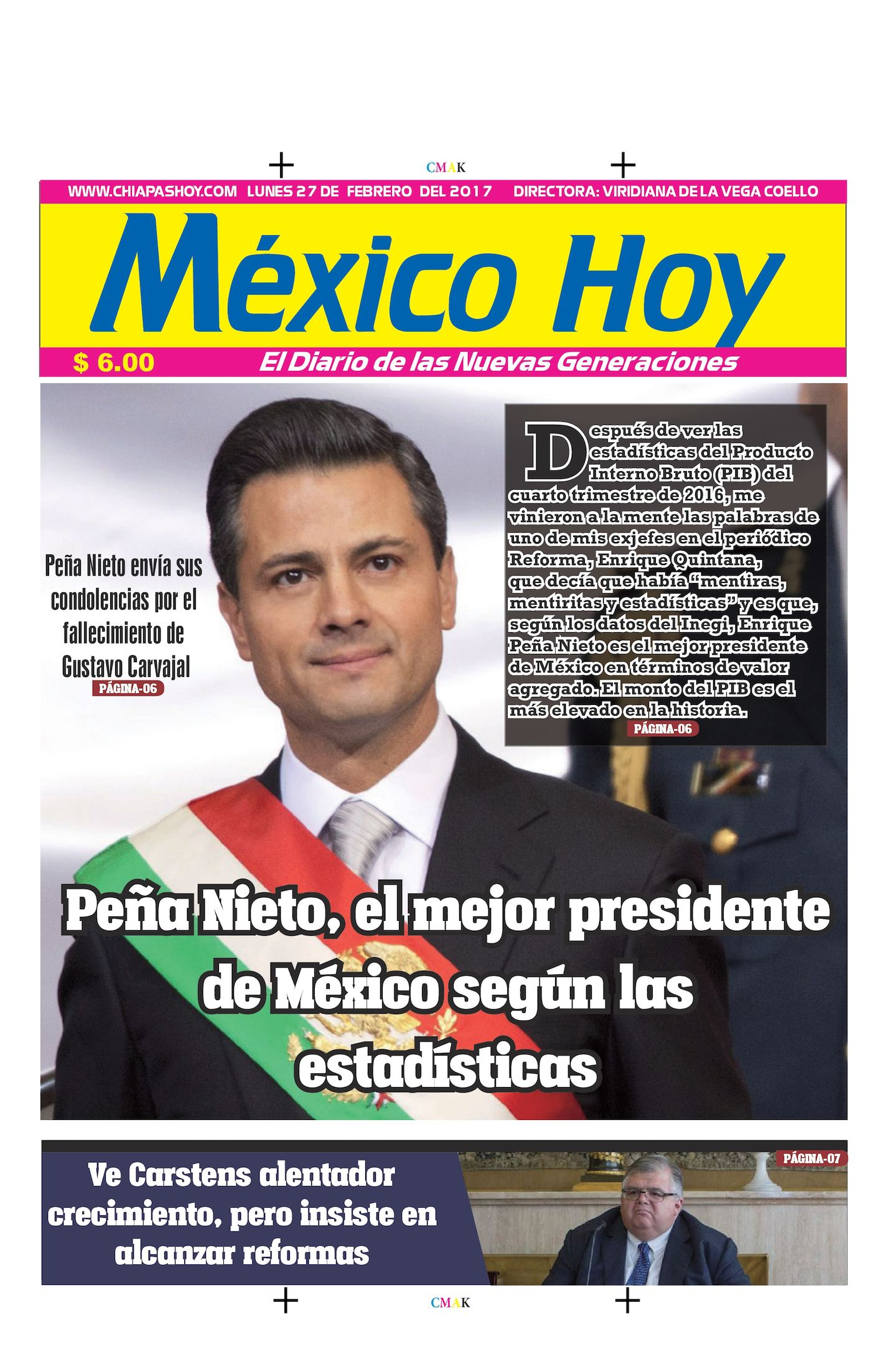 Mexico Hoy Lunes 27 de Febrero de 2017