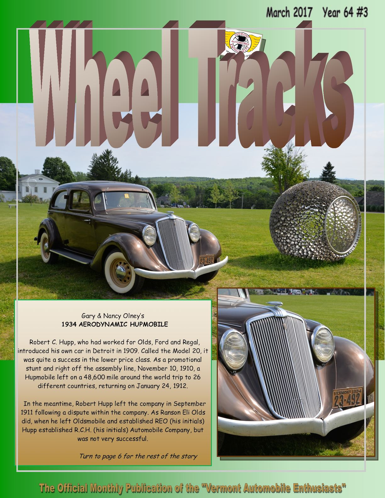 Calamo Wheel Tracks March 2017 Vermont Auto Enthusiasts 1941 Oldsmobile Club Coupe