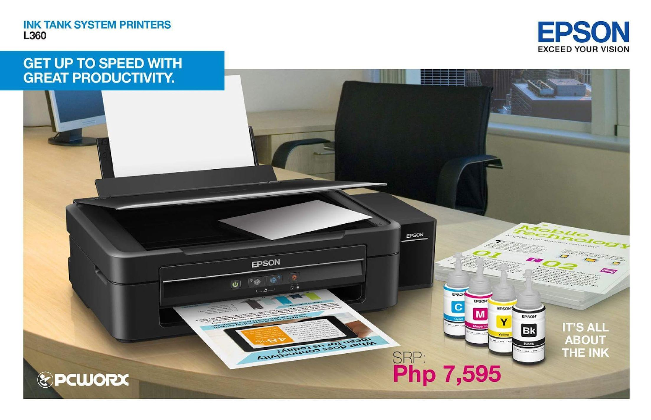 Calamo Get Up To Speed With Great Productivity Using Epson L360 Printer L 360 For Only P7595 From Pcworx 90032