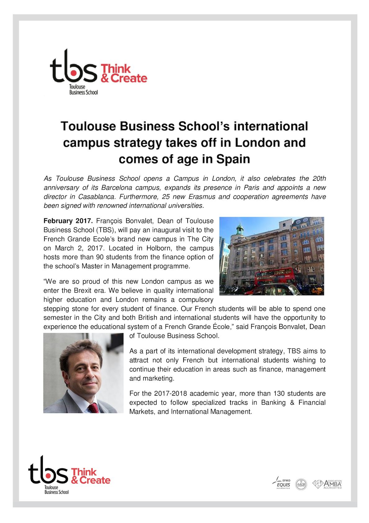 Calameo Tbs International Campus Strategy