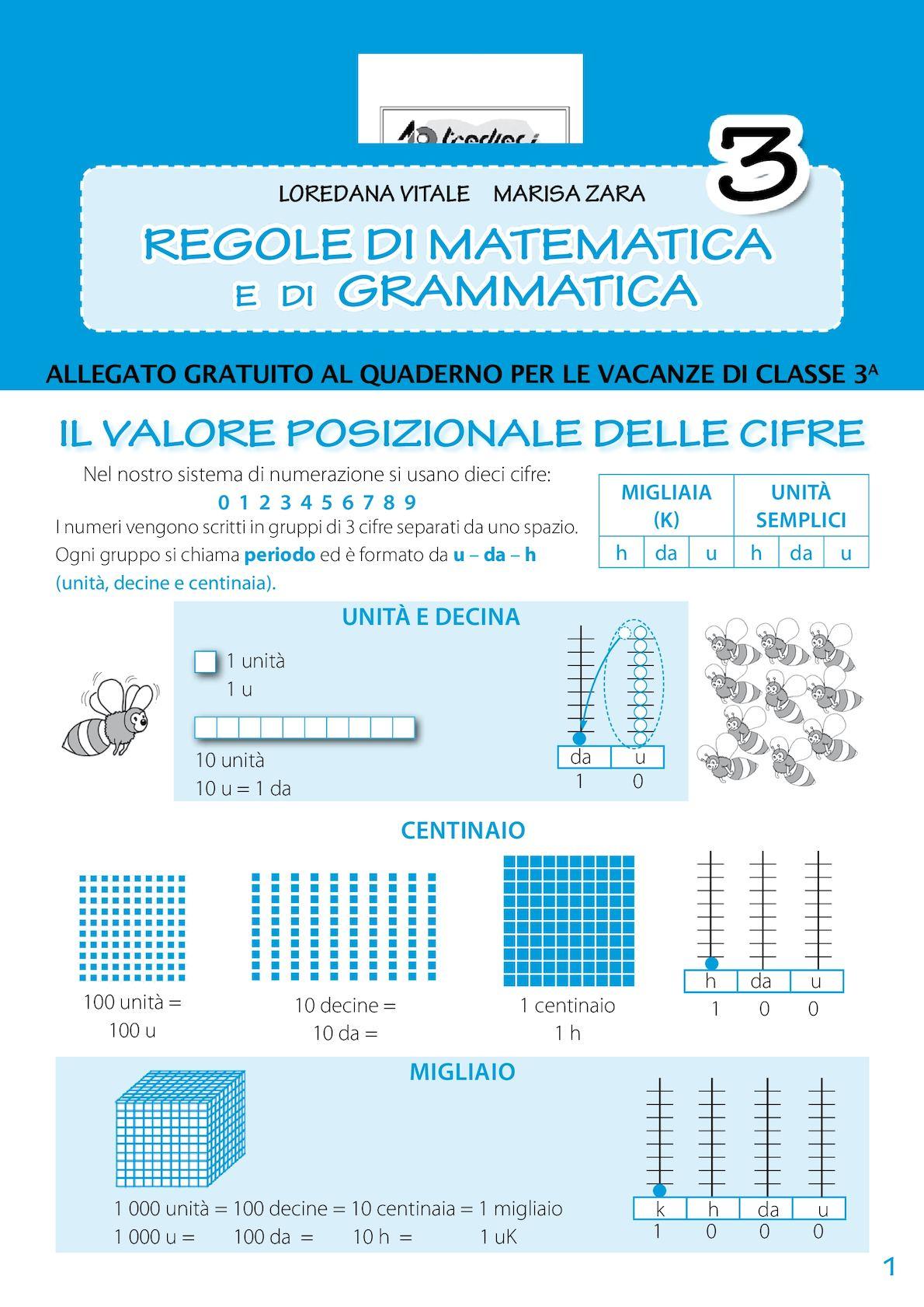 Regole di matematica e grammatica 3