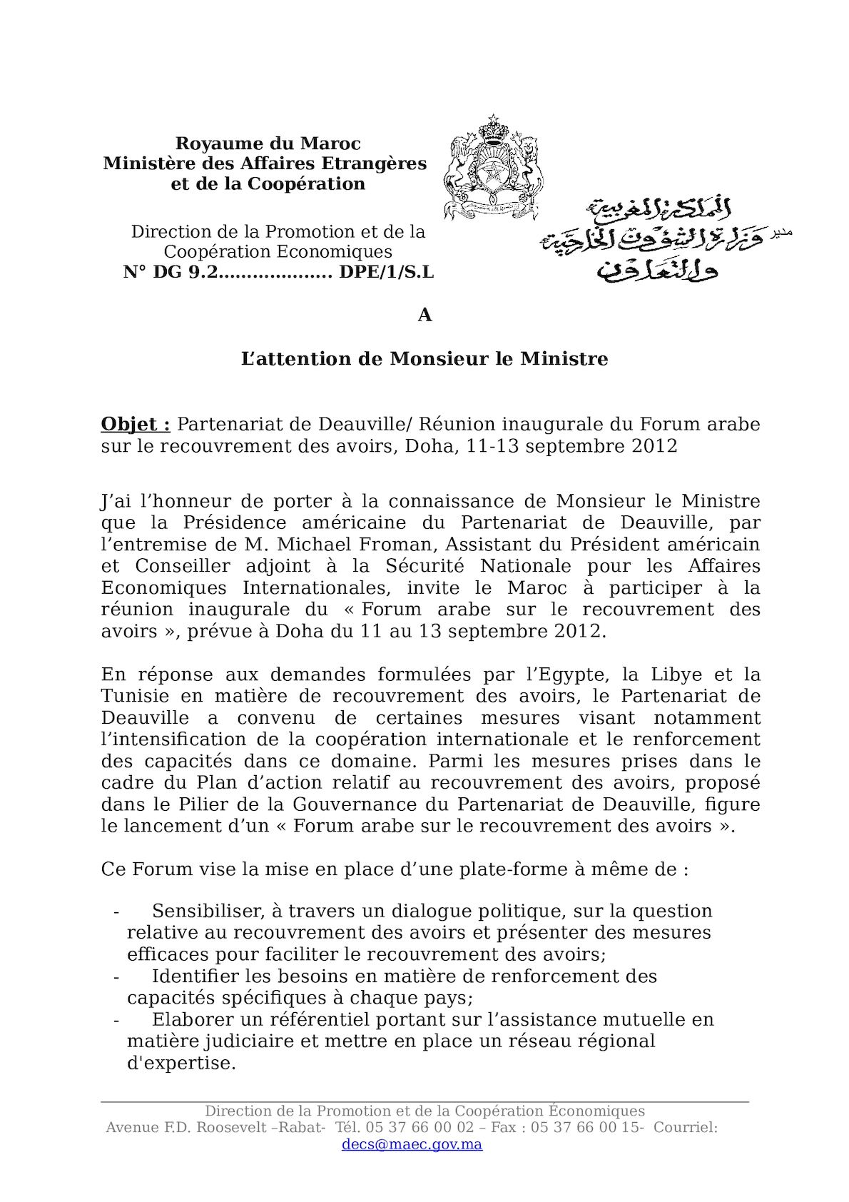 Note Ministre Doha Rev