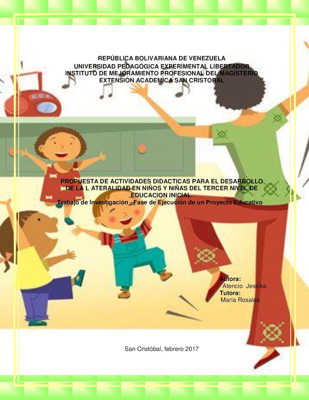 Calam o propuesta de actividades did cticas para el for Actividades pedagogicas para ninos de 2 a 3 anos