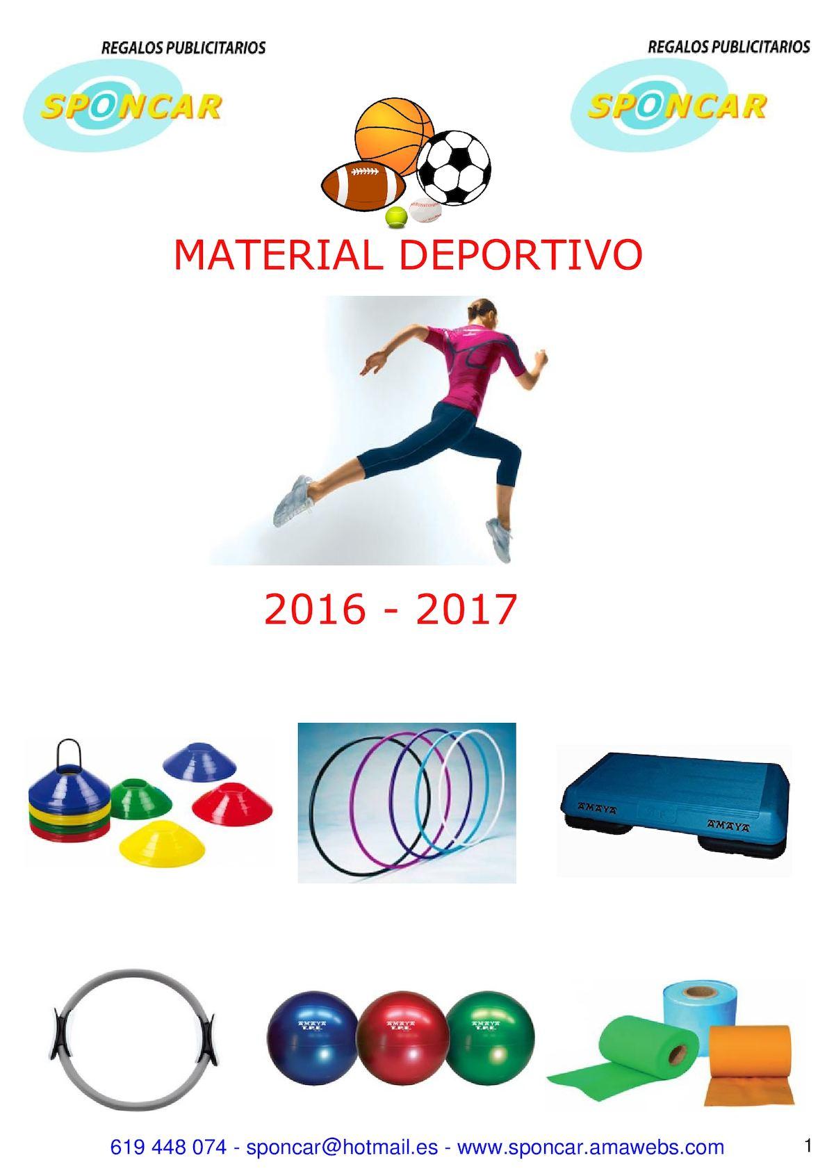 Catalogo Material Deportivo 2017 Sponcar
