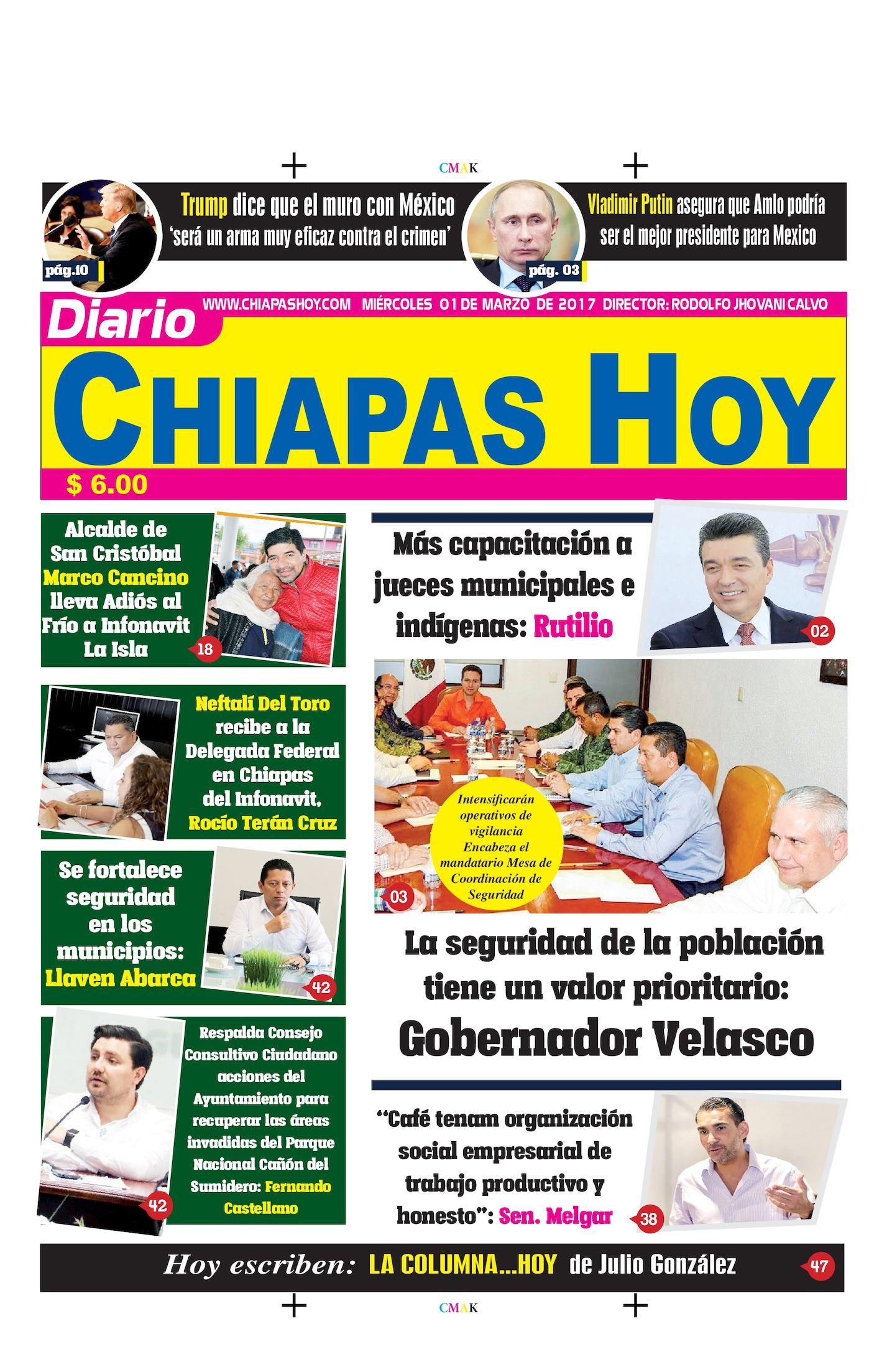 Chiapas Hoy 01 De Marzo