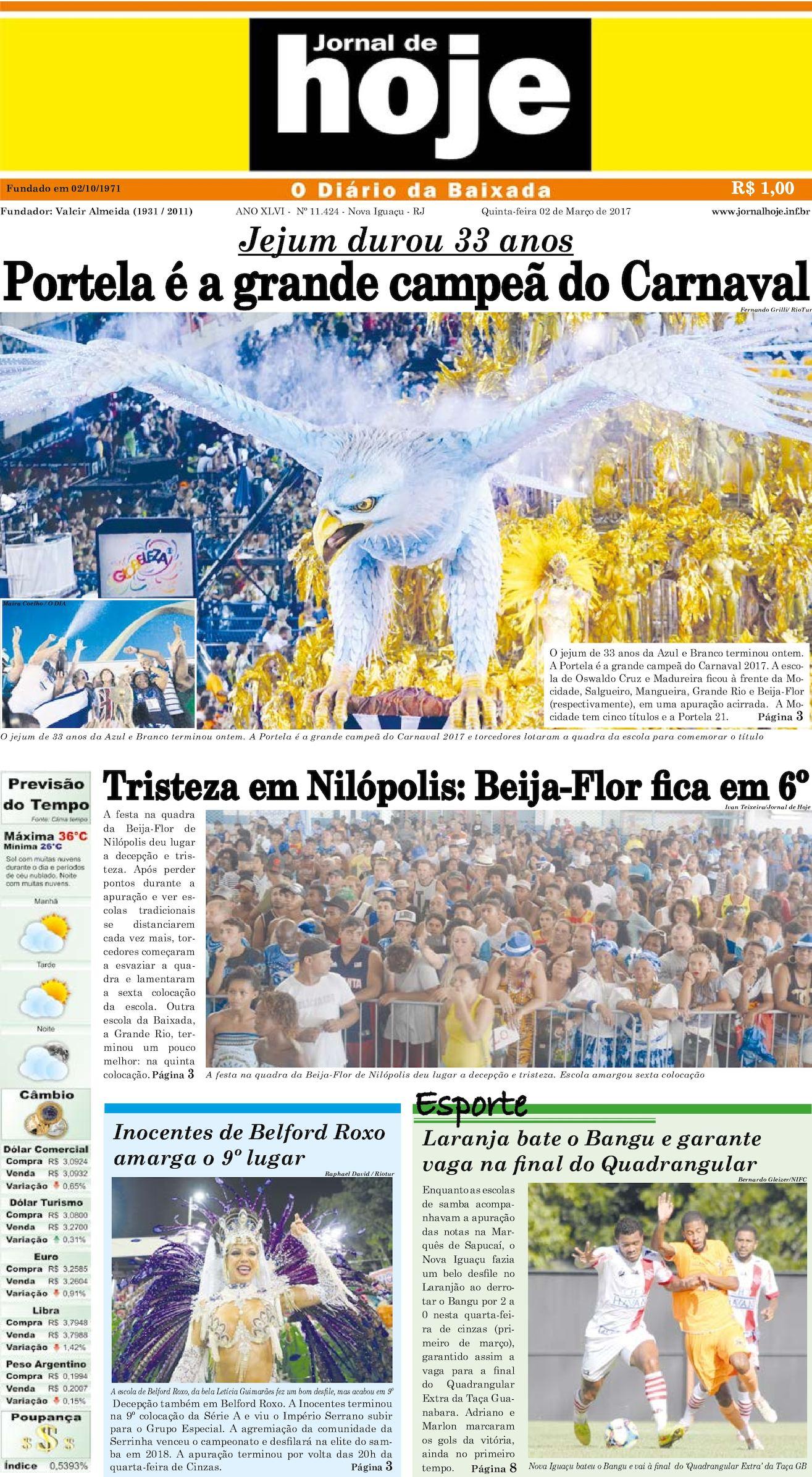 Jornal De Hoje 020317