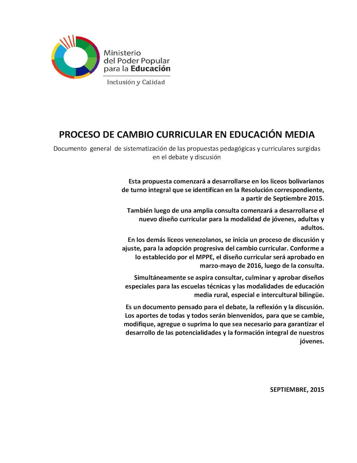 Calaméo - Proceso De Cambio Curricular (Primera Version)(1)