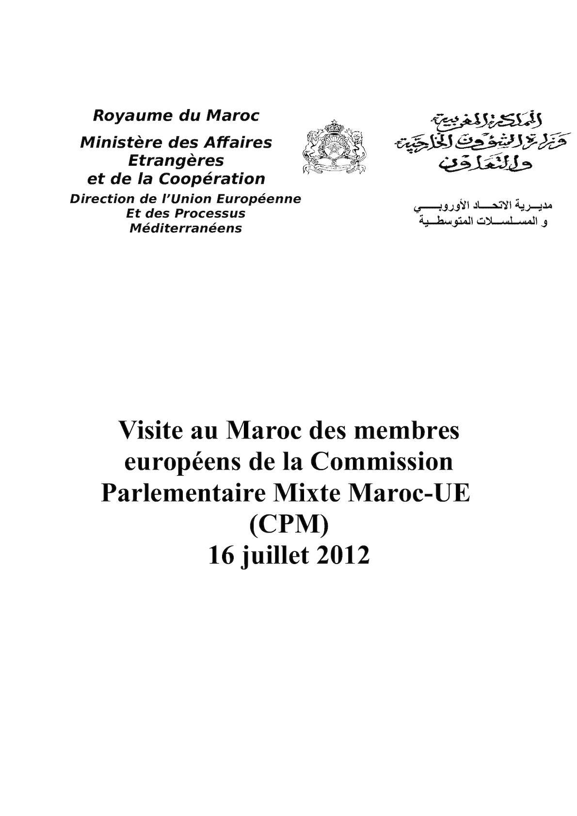 Dossier CPM Juillet 2012