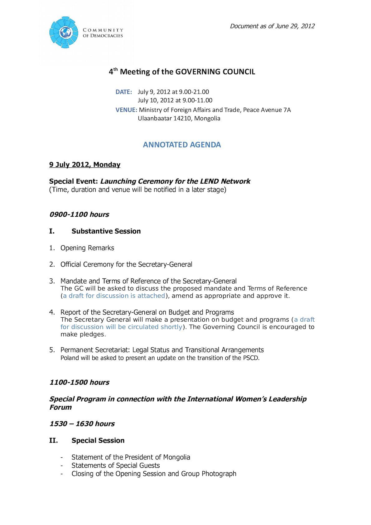 4th GC Meeting ANNOTATED AGENDA (June 29, 2012).
