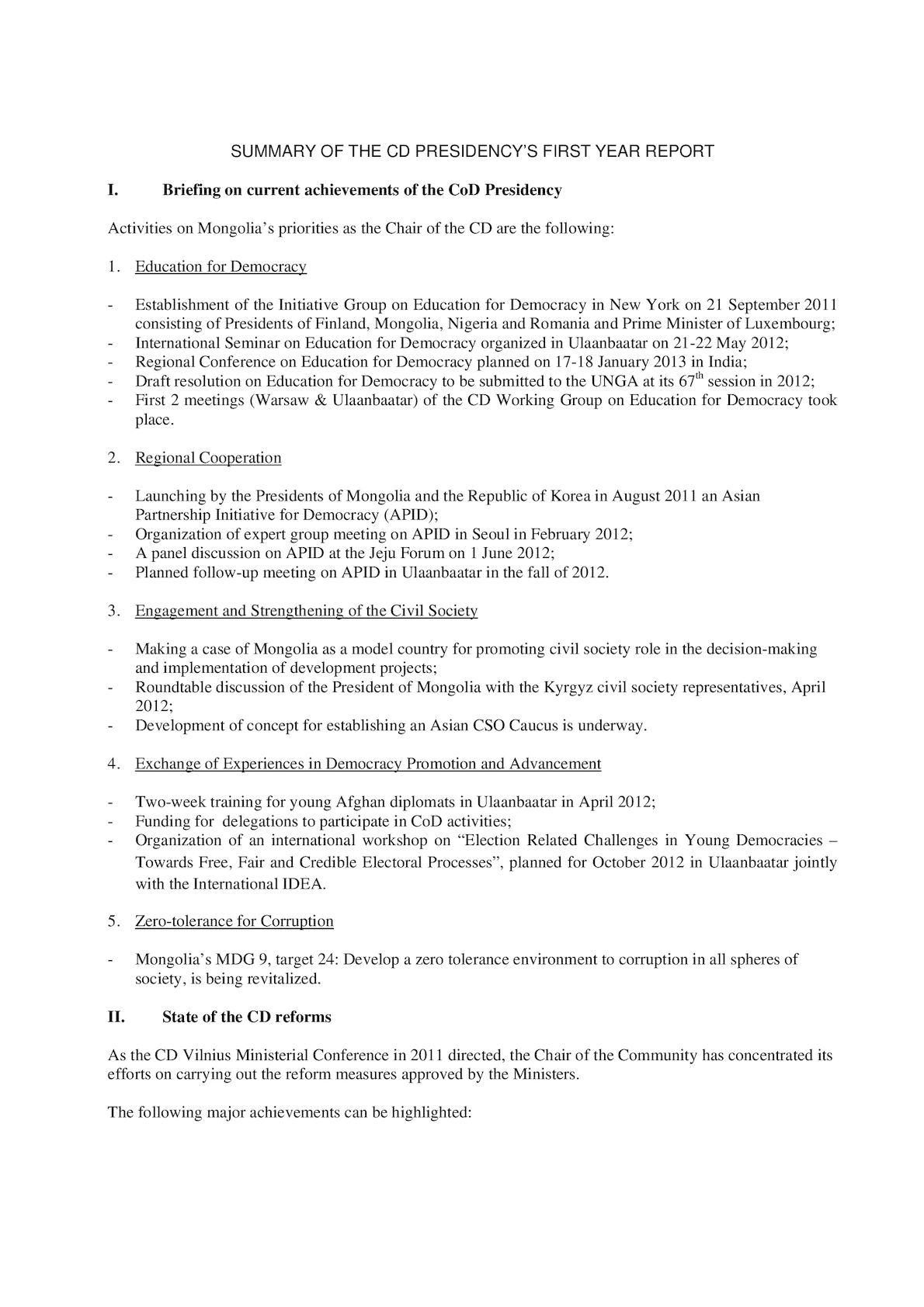 4th GC Meeting_(6) Summary Of Presidency's Activities