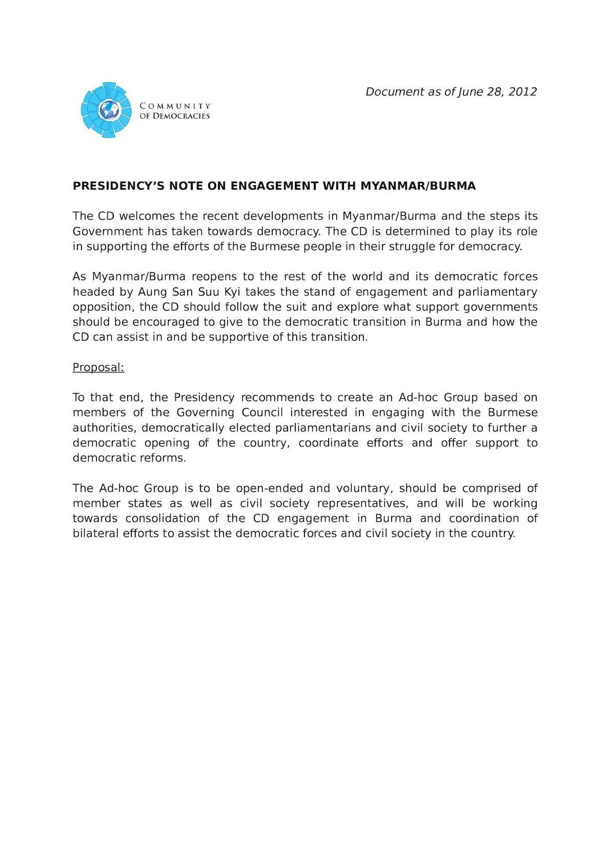 4th GC Meeting_(9) CD Assistance To Myanmar Burma