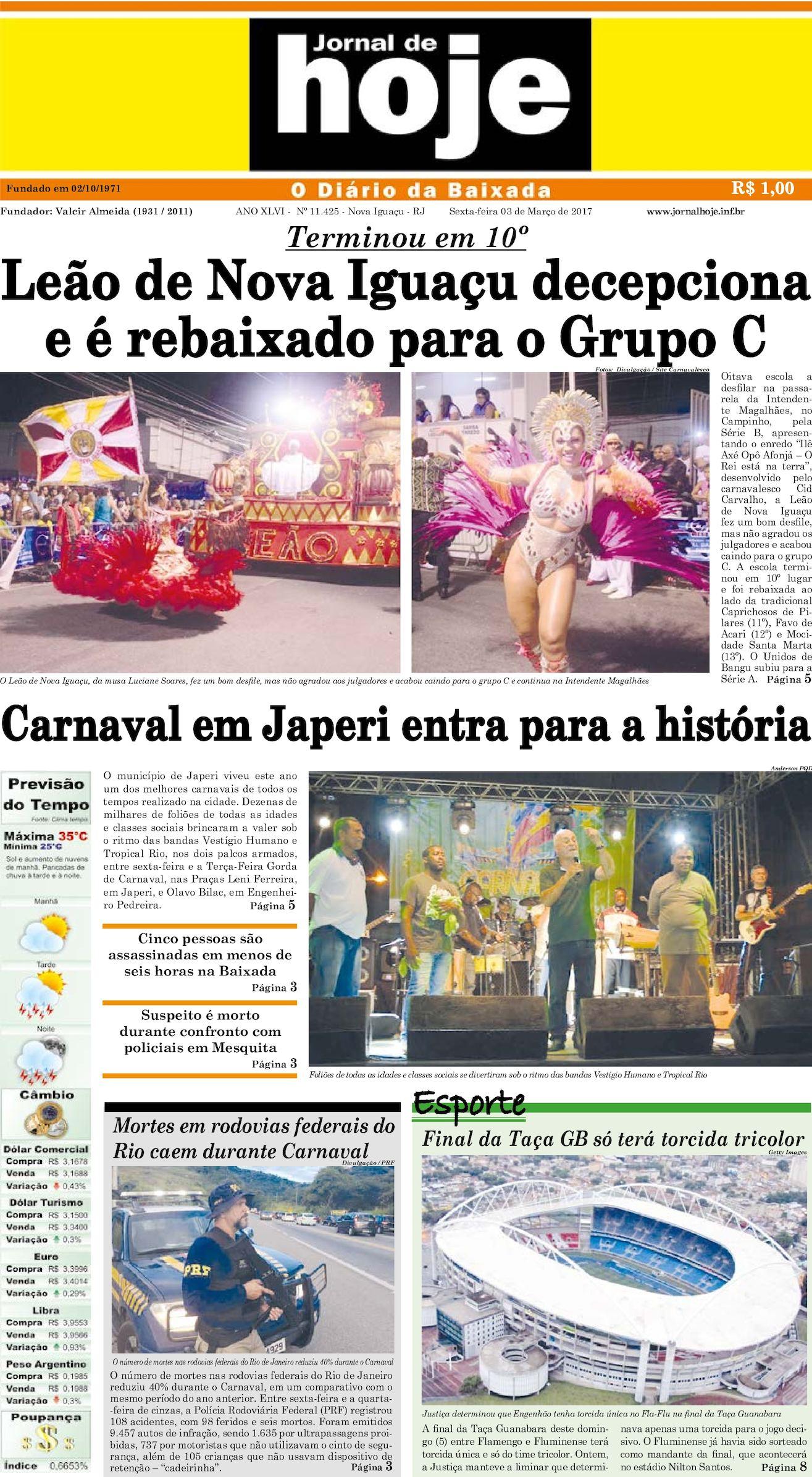 Jornal De Hoje 030317