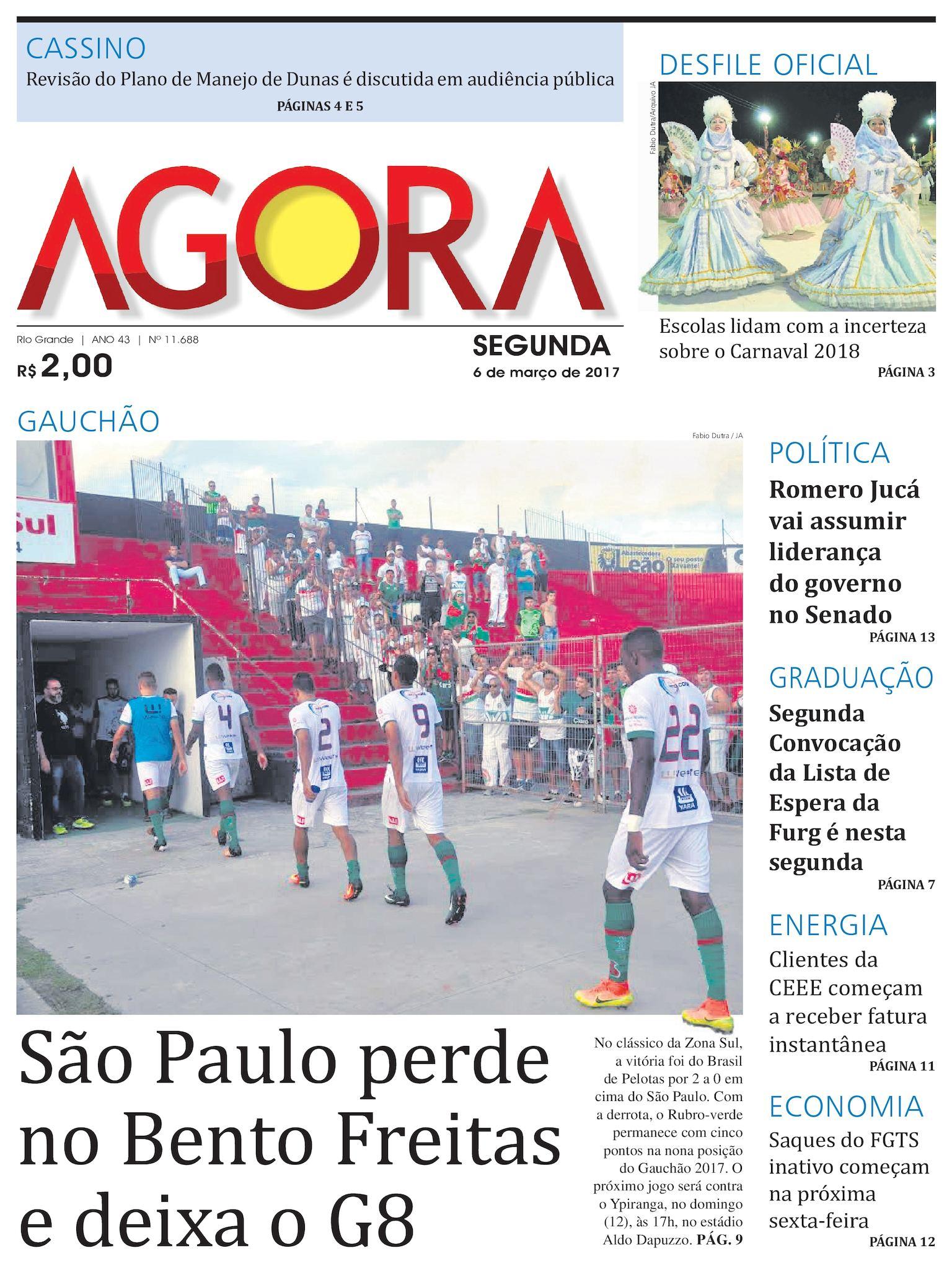 d32c994217 Calaméo - Jornal Agora - Edição 11688 - 6 de Março de 2017