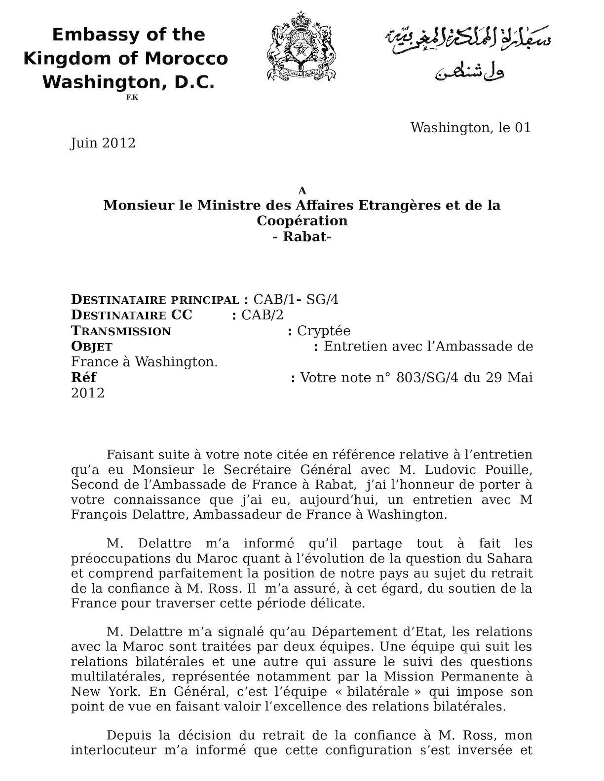 Entretien Avec L'ambassdeur De France