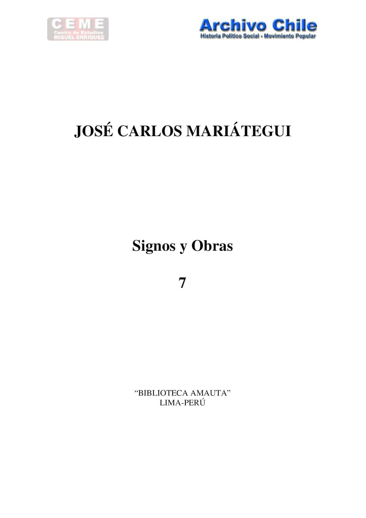 Calaméo - MARIÁTEGUI- Signos y Obras