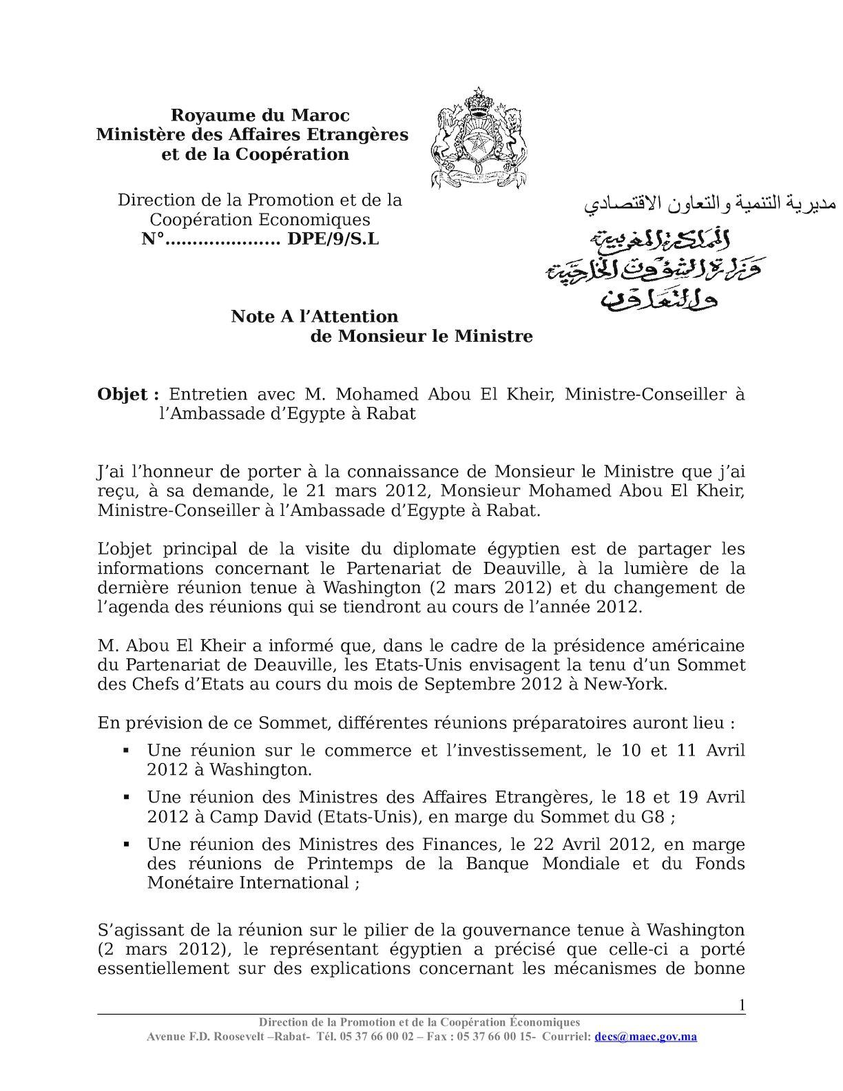 Cr Réunion Sur Tip Avec Conseiller Egypte