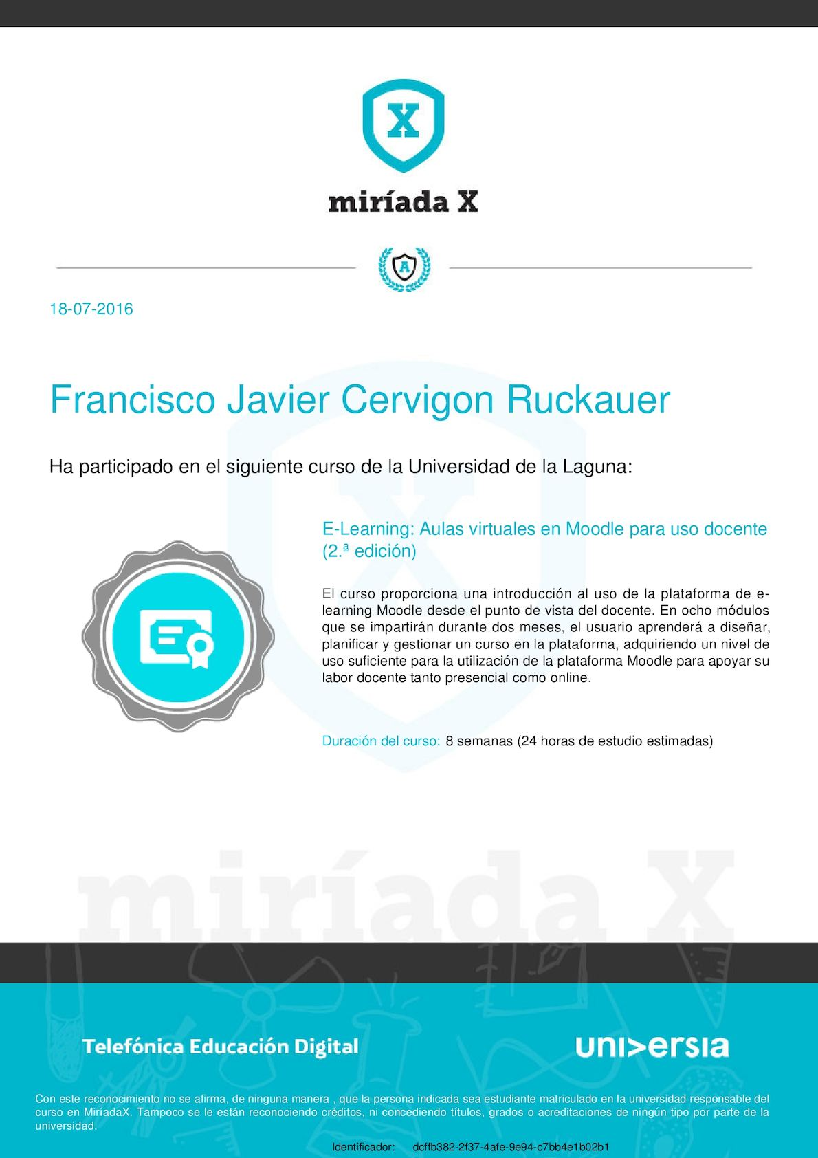E Learning, Aulas Virtuales En Moodle Para Uso Docente, Francisco Javier Cervigon Ruckauer Dcffb382 2f37 4afe 9e94 C7bb4e1b02b1