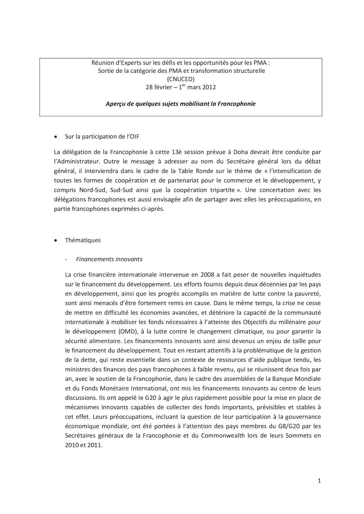 PMA Francophonie