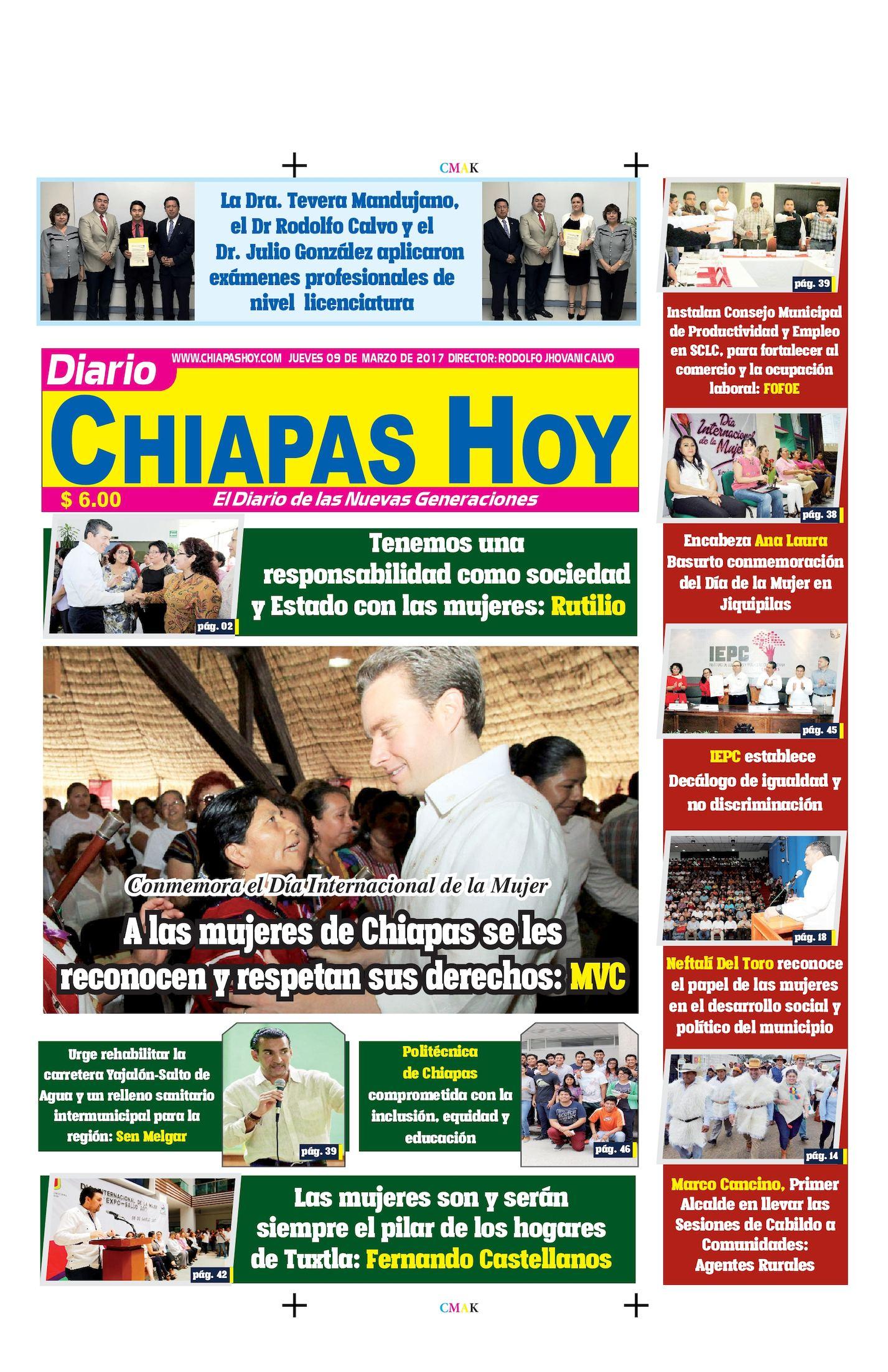 Chiapas Hoy 09 De Marzo