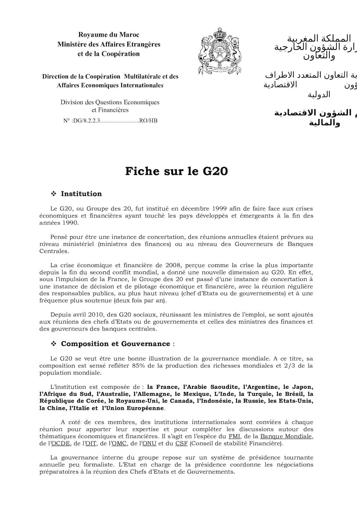 Fiche Sur Le G20 2012 2