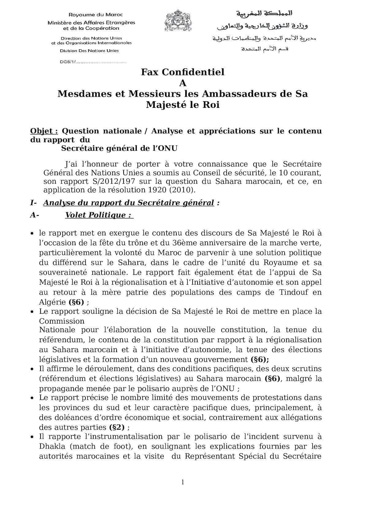 Analyse Du Rapport Du SG 2012 Lecture Postes12 04 2012 (2).