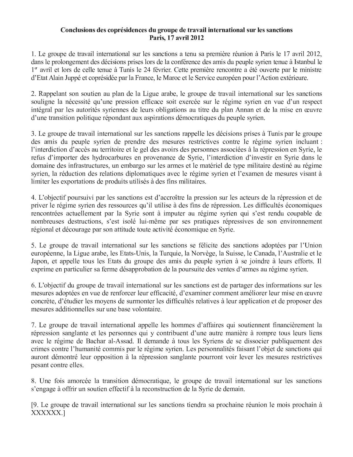 120413 Conclusions Du Groupe De Travail Sur Les Sanctions