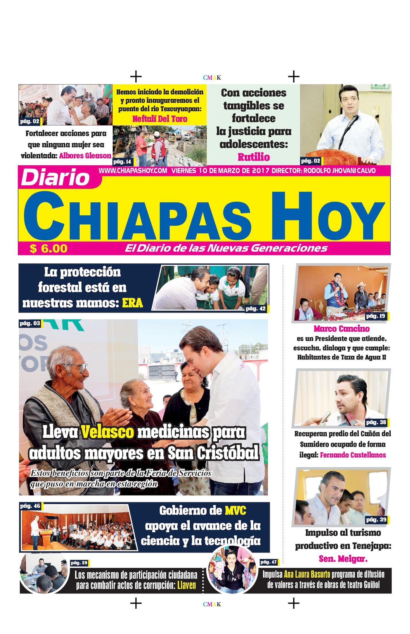 Chiapas Hoy 10 De Marzo