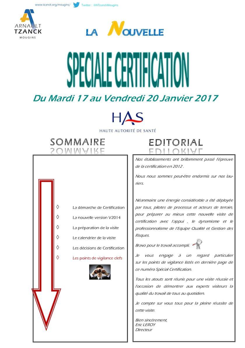 Calamo La Nouvelle Spciale Certification 2017 Impression