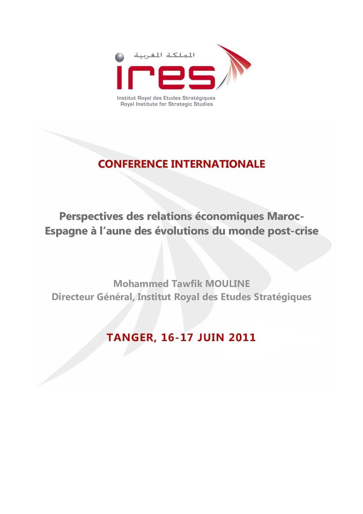 Pdf Relations Maroc Espagne Colloque Tanger 16 17 Juin2011