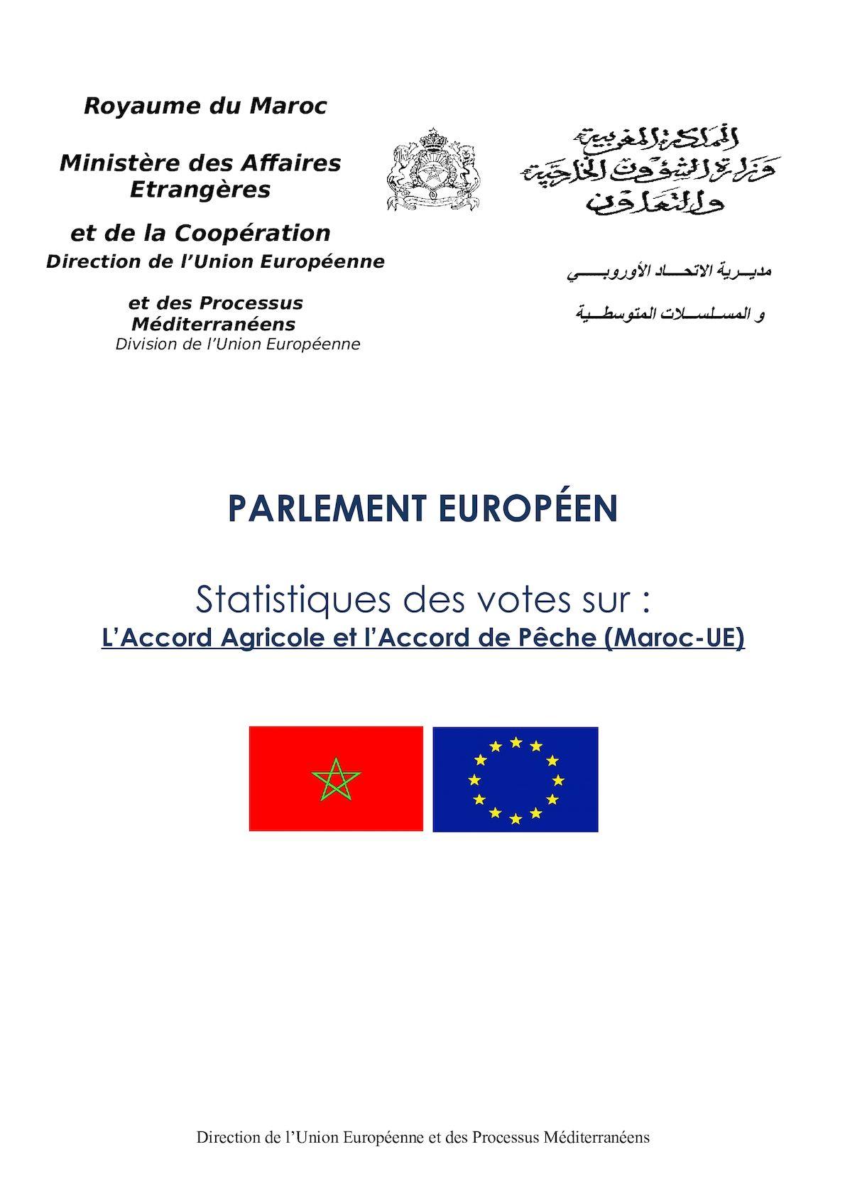 Statistiques Des Votes Des Eurodputés Accord Agricole Et Accord Pêche Final 7