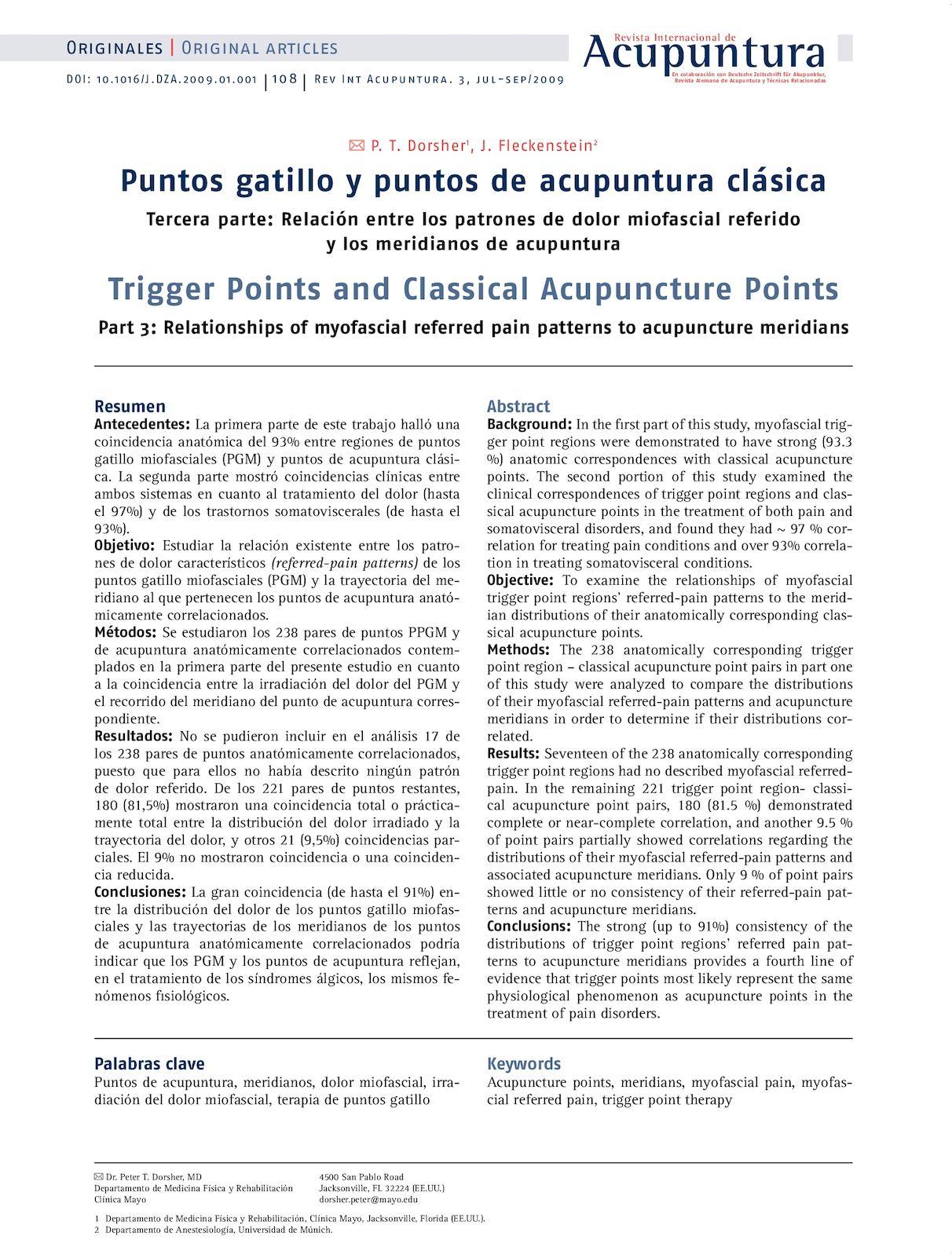 Calaméo - 2010 Puntos Gatillo Y De Acupuntura Clásica Relación De ...