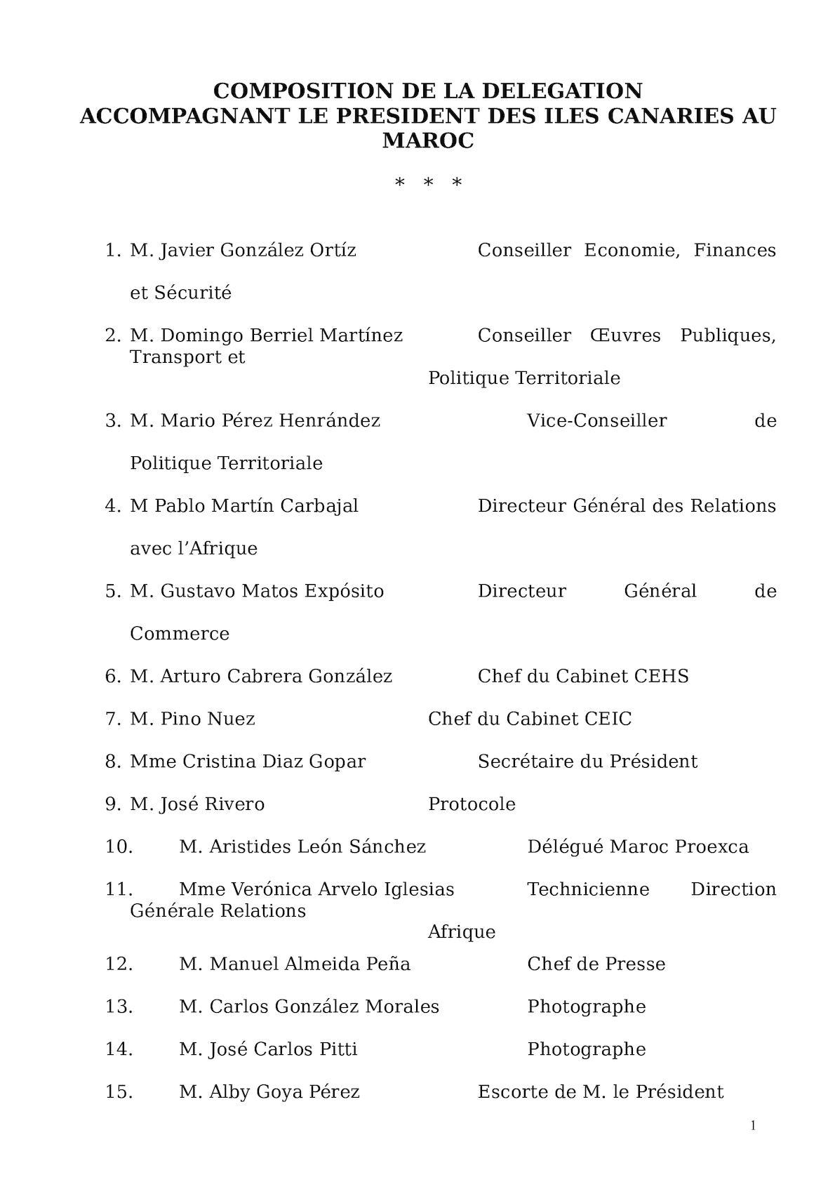 Liste Délégation